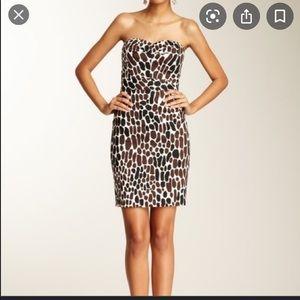 Trina Turk Animal Print Strapless Dress